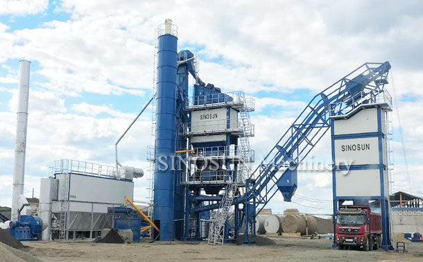 Asphalt Mixing Plant in RUSSIA - SAP120