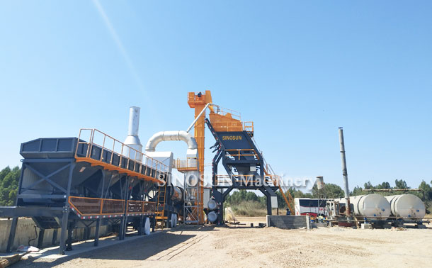 Mobile Asphalt Mixing Plant in Morocco - MAP1700